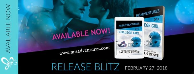 RELEASE BLITZ BANNER Misadventures College Girl