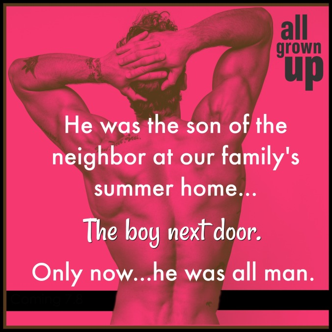 All Grown Up Excerpt Reveal Teaser